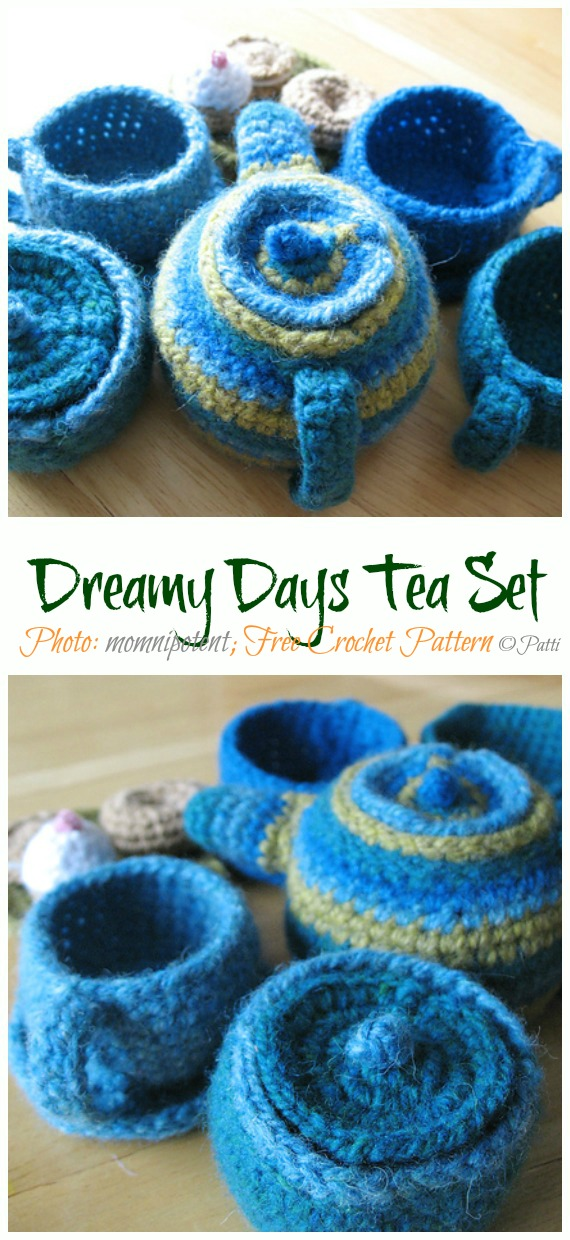 Crochet Dreamy Days Tea Set Amigurumi Free Pattern - #Amigurumi; #Teacup; Free Crochet Patterns