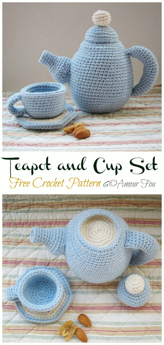 Amigurumi Teacup Set Free Crochet Pattern - #Crochet; #Teacup; Free Patterns