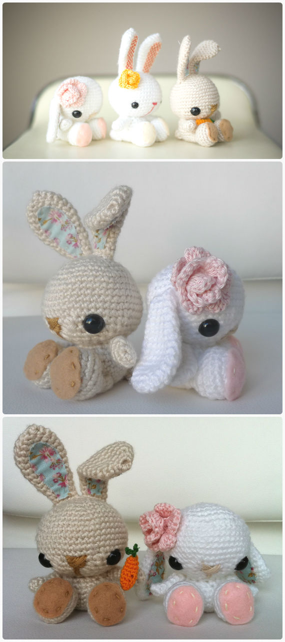 FREE Amigurumi Easter Bunny Crochet Pattern and Tutorial by Sue ... | 1280x570