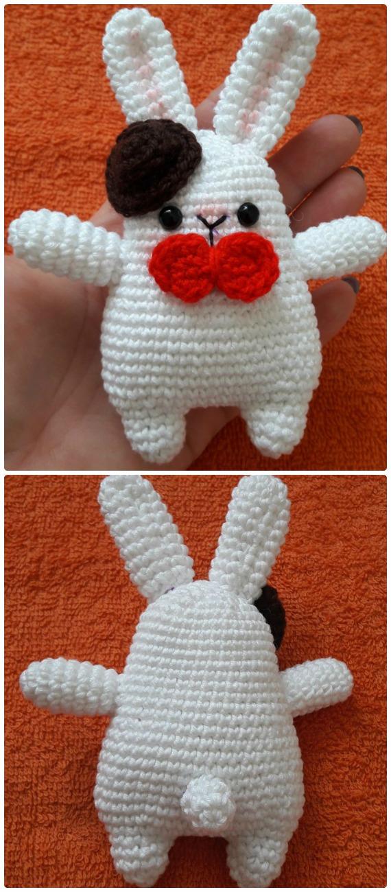 Amigurumi Gentleman Bunny Crochet Free Pattern - Crochet #Bunny; Toy #Amigurumi; Free Patterns
