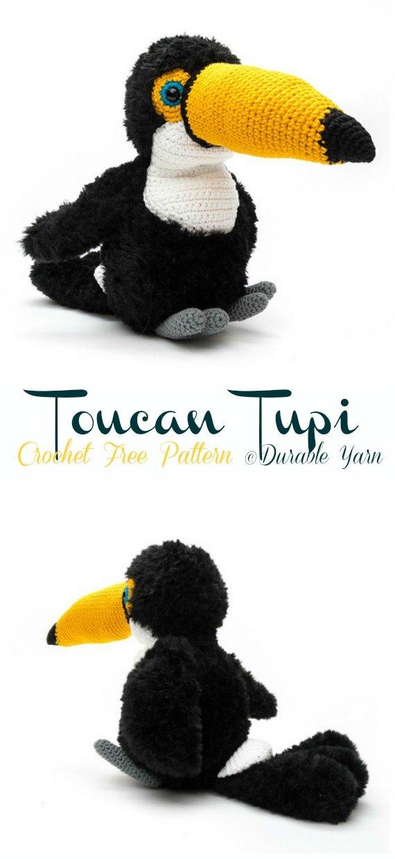 Toucan Tupi Amigurumi Free Crochet Pattern - Crochet #Bird; #Amigurumi Free Patterns
