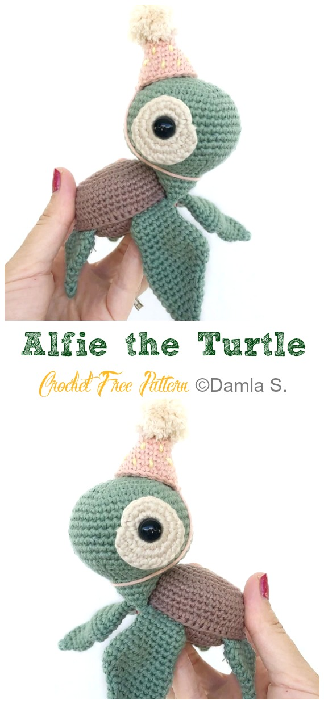 DIY – Instructions for Crocheted Turtle Amigurumi Free Pattern ... | 1240x570