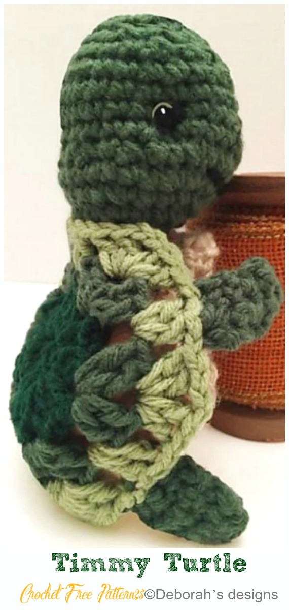 Crochet Turtle Amigurumi Toy Softies Free Patterns
