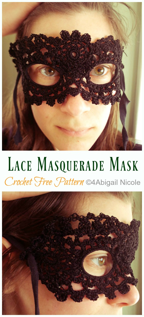 Lace Masquerade Mask Crochet Free Pattern - Masquerade Eye #Mask; Free #Crochet; Patterns