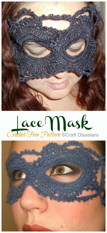 Lace Mask Crochet Free Pattern - Masquerade Eye #Mask; Free #Crochet; Patterns
