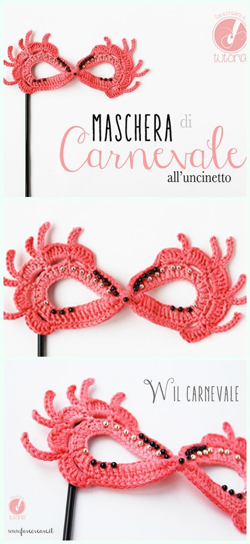 Carnival Mask Crochet Free Pattern - Masquerade Eye #Mask; Free #Crochet; Patterns