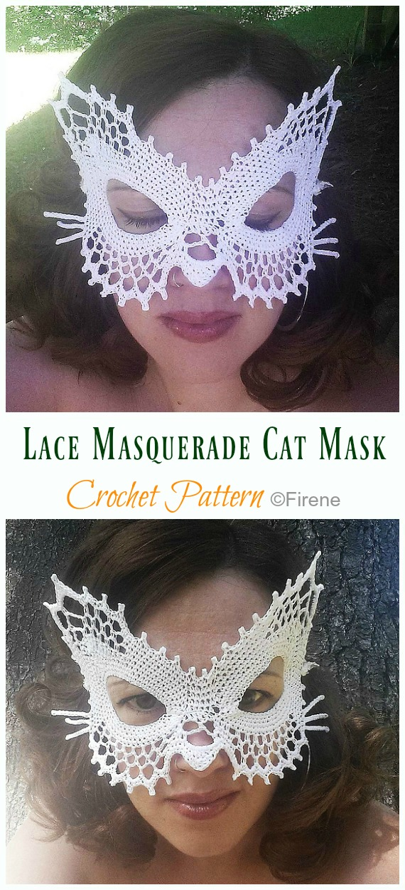 Lace Masquerade Mask Crochet Pattern - Masquerade Eye #Mask;  #Crochet; Patterns