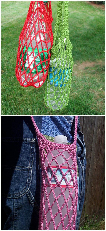 Water Bottle Holders Amp Slings Free Crochet Patterns