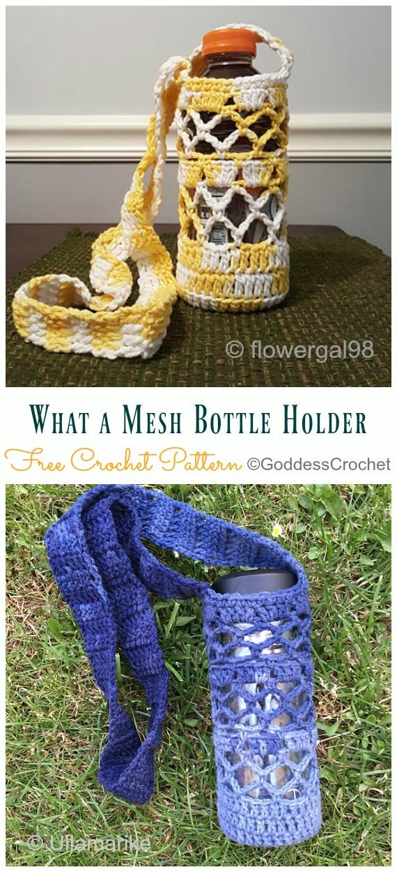 Water Bottle Holders & Slings Free Crochet Patterns