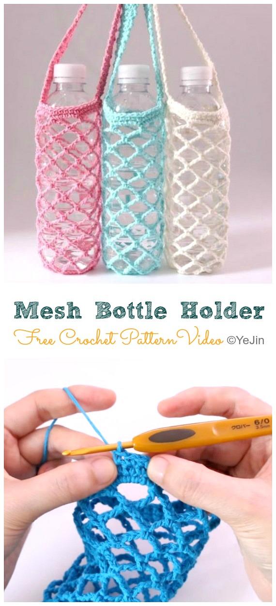 crochet water bottle holder pattern