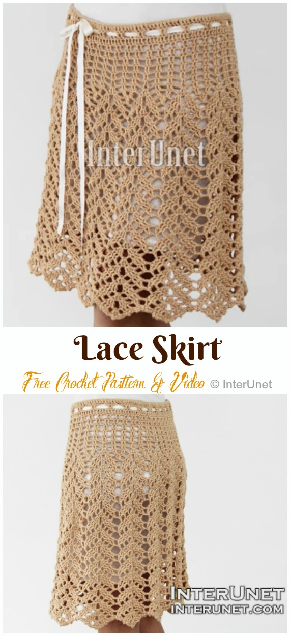 Lace Maxi Skirt Crochet Free Pattern & Video - #Crochet; Women #Skirt; Free Patterns For Any Season