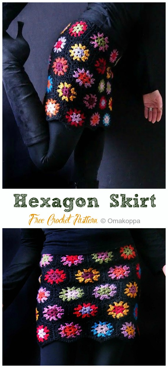 Hexagon Skirt Crochet Free Pattern - #Crochet; Women #Skirt; Free Patterns For Any Season