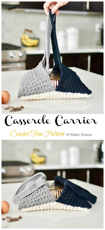 Crochet Modern Casserole Carrier Free Pattern - #Crochet; #Casserole; Carrier Free Patterns