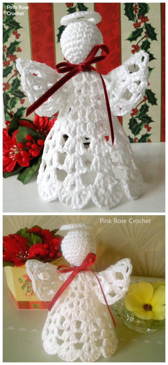 Crochet Shelf Christmas Angel Free Pattern - #Crochet; #Angel; Free Patterns