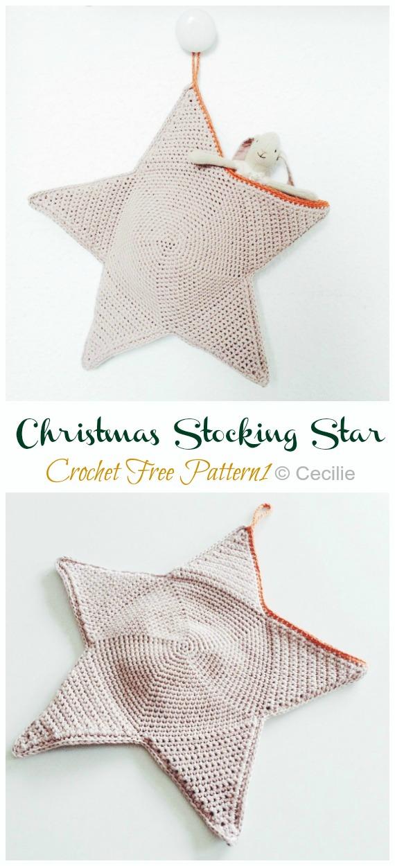 Best Free Crochet » Free Crochet Pattern – Small Star #8 | Crochet ... | 1250x570