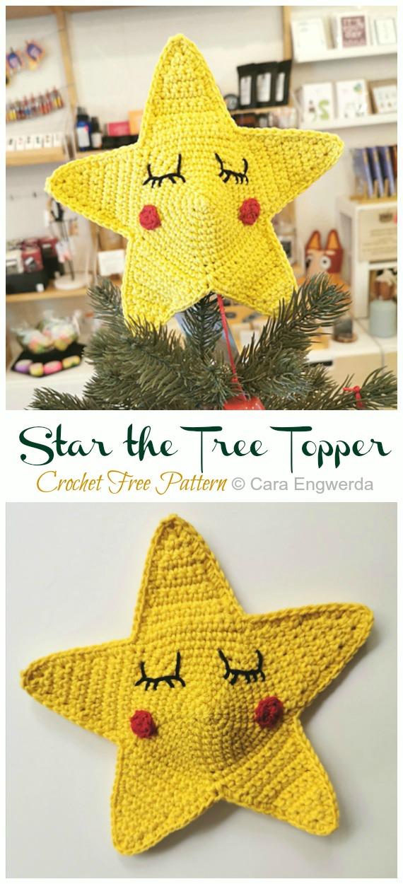 Star the Tree Topper Crochet Free Pattern -Amigurumi #Star; Plush Free #Crochet; Patterns