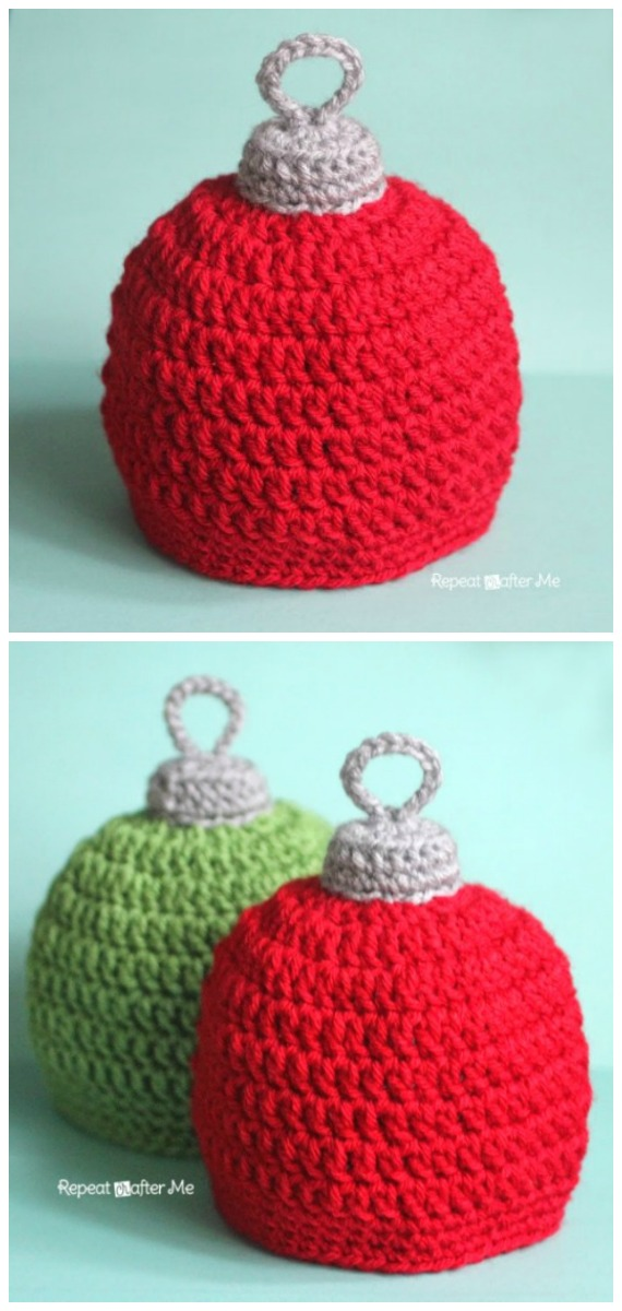 Christmas Ornament Hat Crochet Free Pattern - #Crochet; #Christmas; Hat Gifts Free Patterns