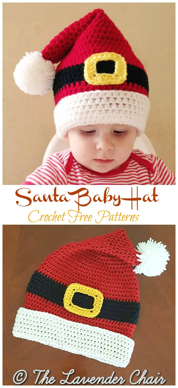 Baby Santa Hat Crochet Free Pattern - #Crochet; #Christmas; Hat Gifts Free Patterns