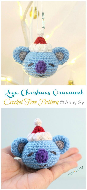 Koya Christmas Ornament Crochet Free Pattern -DIY #Crochet; #Christmas; #Ornament; Free Patterns