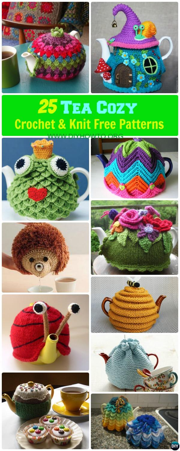 25 Crochet Knit Tea Cozy Free Patterns