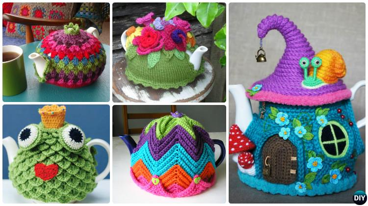 Free Crochet Pattern Small Tea Cozy : 25 Crochet Knit Tea Cozy Free Patterns