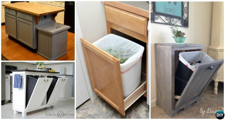 diy trash can cabinet projects instructions. Black Bedroom Furniture Sets. Home Design Ideas