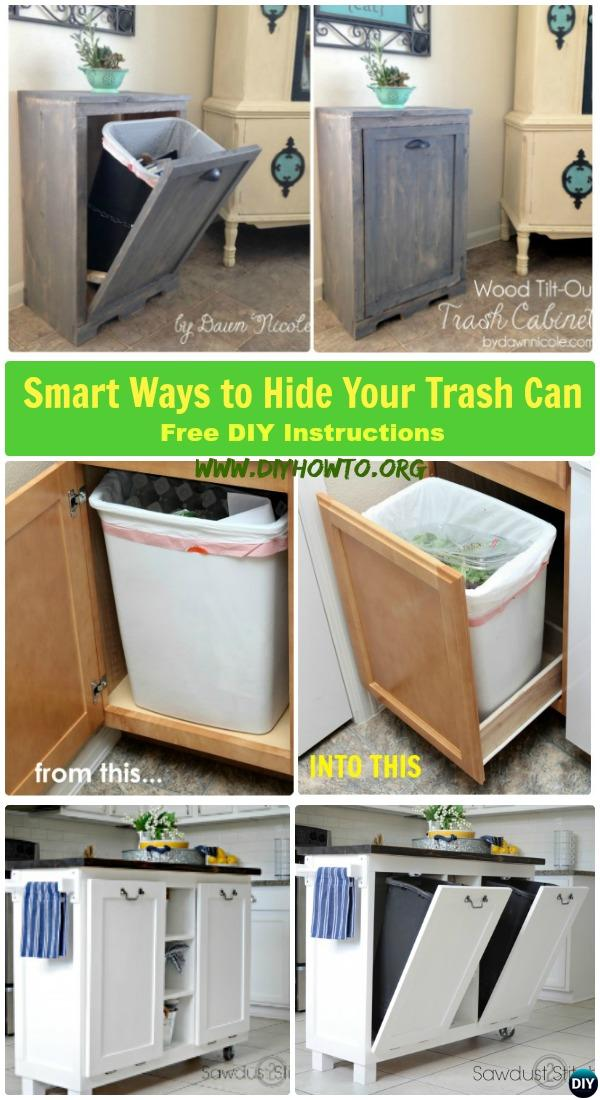 Diy Trash Can Cabinet Projects Instructions