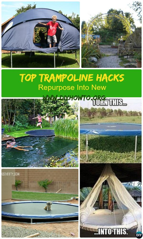 Top Tr&oline Hacks To Re-purpose Into Something New for Garden Fun or Gardening & Top Trampoline Hacks To Repurpose Into Something New