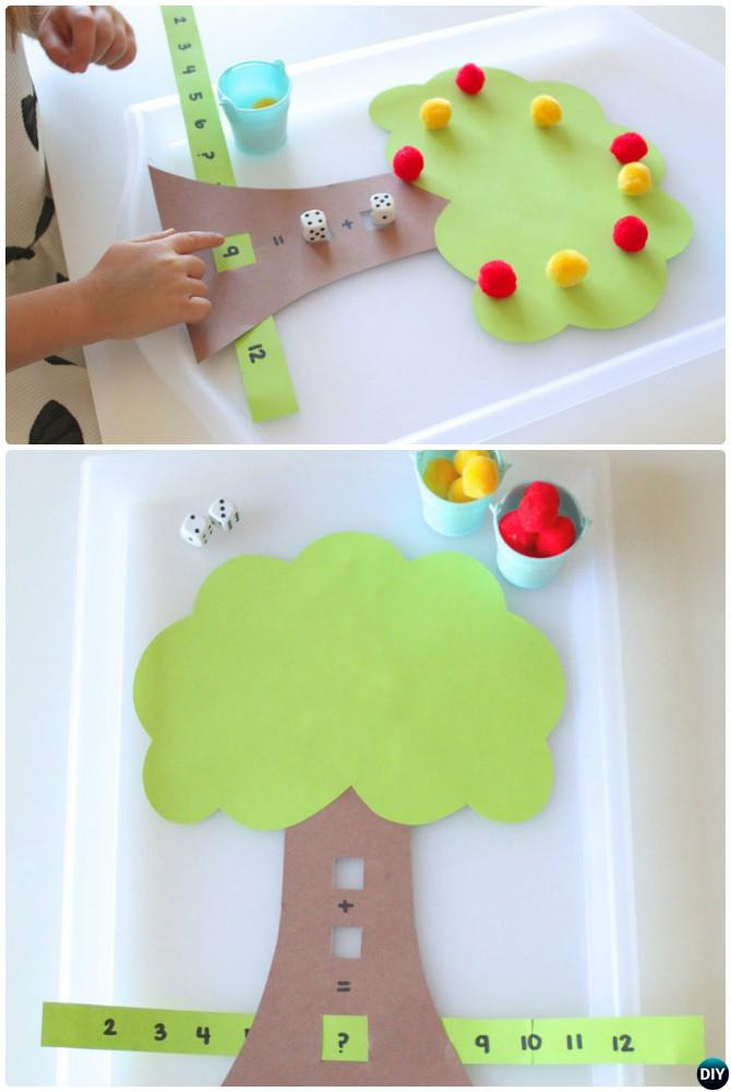 Apple Tree Addition Method-Easy Fun Kids Math Learning Tricks Games