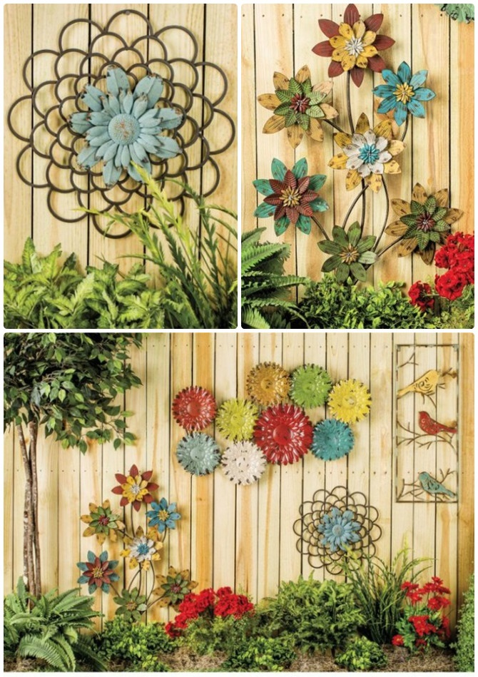 Backyard garden fence decoration makeover diy ideas for Decorating your garden fence