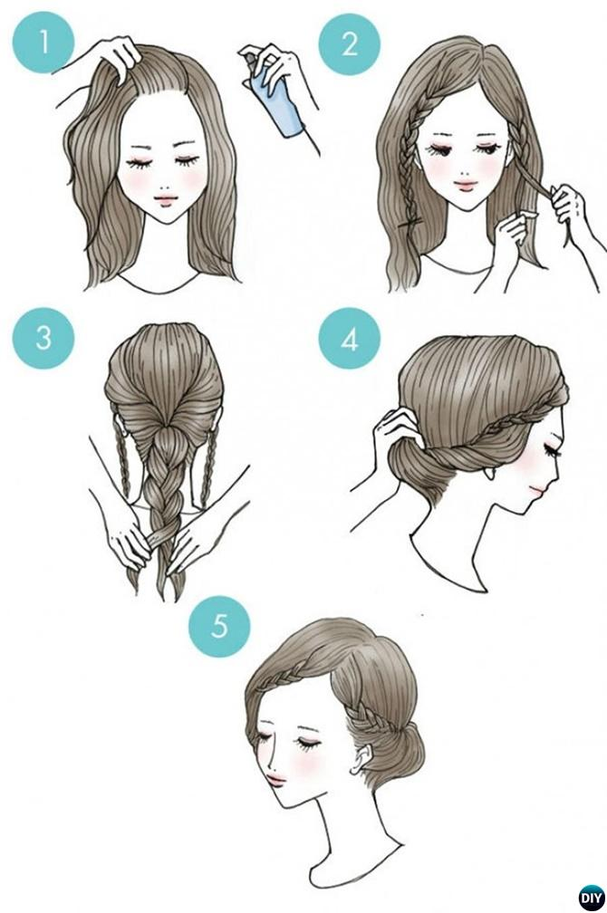 Braid Crown Hairstyle-20 Easy Busy Morning Hairstyles For Short Mid Long-Length Hairs