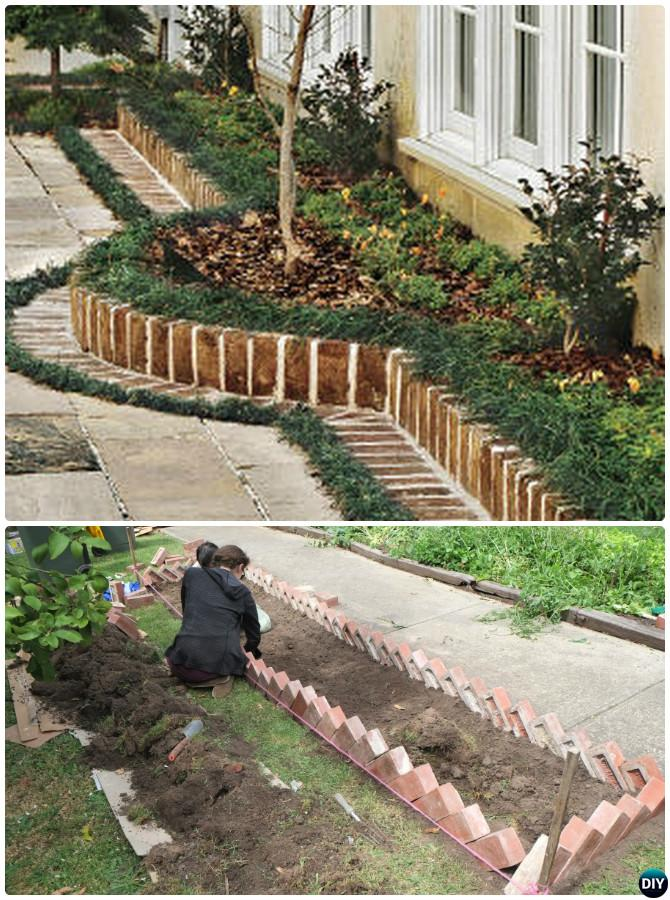 Creative garden bed edging ideas projects instructions for Diy garden borders