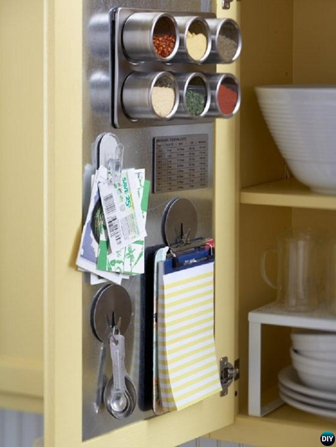 DIY Cabinet Door Storage-16 Brilliant Kitchen Storage Solutions You Can Make Yourself