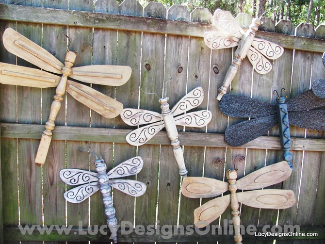 Ceiling Fan Dragonflies Fence Garden-20 Fence Decoration Makeover DIY Ideas