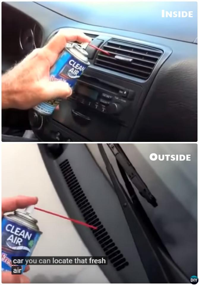 Clean Car Air Duct Odor-20 Car Cleaning Detailing Tips and Tricks