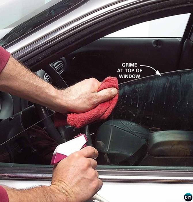 Clean Car Window Top Edge-20 Car Cleaning Detailing Tips and Tricks