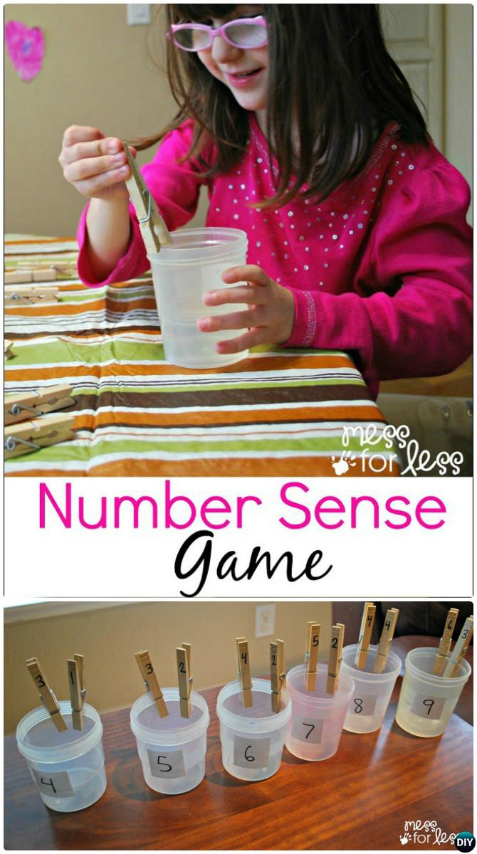 Clothespin Math Learning Activity-Easy Fun Kids Math Learning Tricks Games