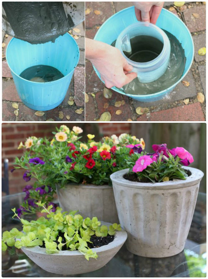 Diy Concrete Planter Ideas Projects