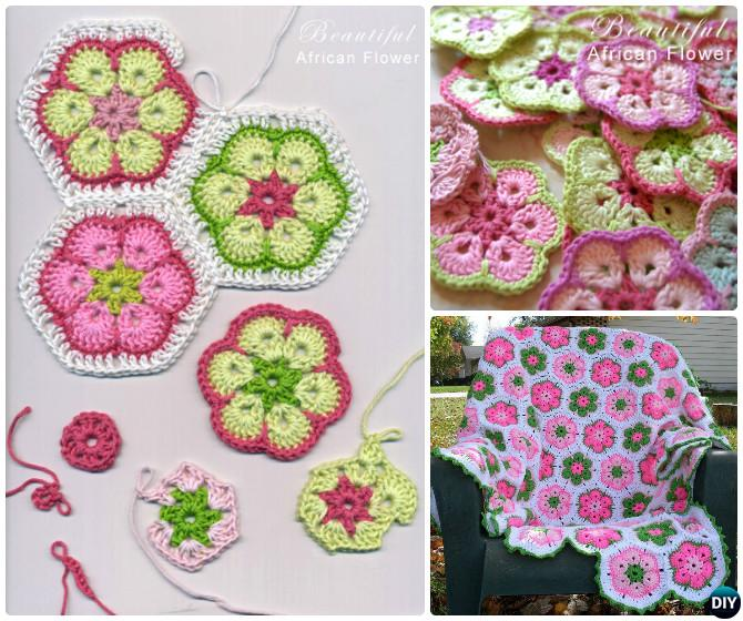 Crochet African Flower Blanket Free Pattern Diy How To