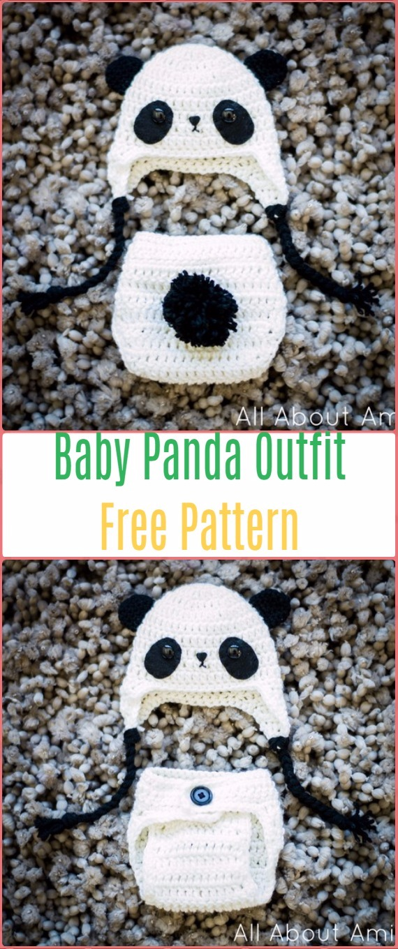 Crochet Baby Panda Outfit Free Pattern - Crochet Baby Shower Gift Ideas Free Patterns