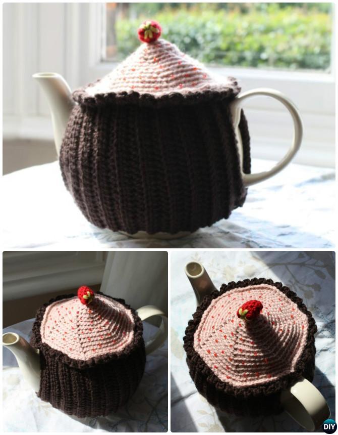 Crochet Cupcake Tea Cozy Free Pattern-20 Crochet Knit Tea Cozy Free Patterns