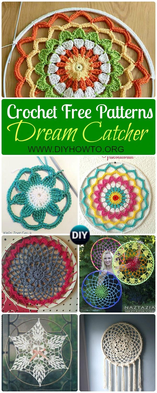 Crochet DreamCatcher & SunCatcher Free Patterns: Creative Ways to Crochet rounds and mandalas.