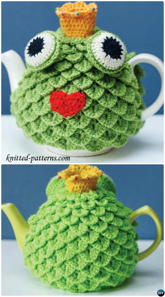 Crochet Frog Tea Cozy Free Pattern-20 Crochet Knit Tea Cozy Free Patterns