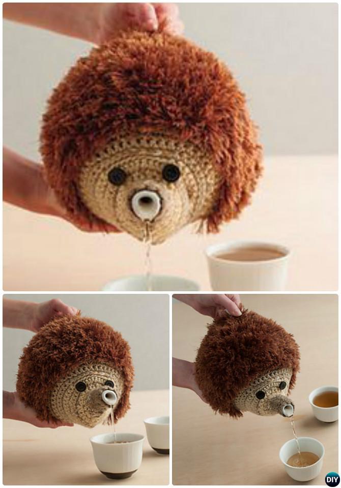 Crochet Hedgehog Teapot Cozy Pattern-20 Crochet Knit Tea Cozy Free Patterns