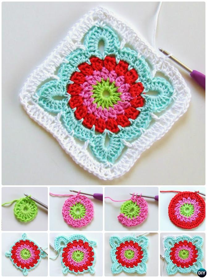 Crochet Granny Square Free Patterns Fascinating Granny Square Crochet Patterns