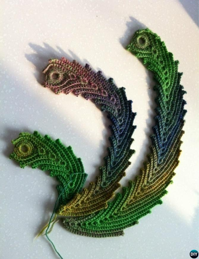 Crochet Peacock Feather Inspiration-10 Crochet Peacock Projects Free Patterns