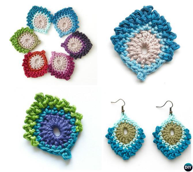 Crochet Peacock Motif Free Pattern-10 Crochet Peacock Projects Free Patterns