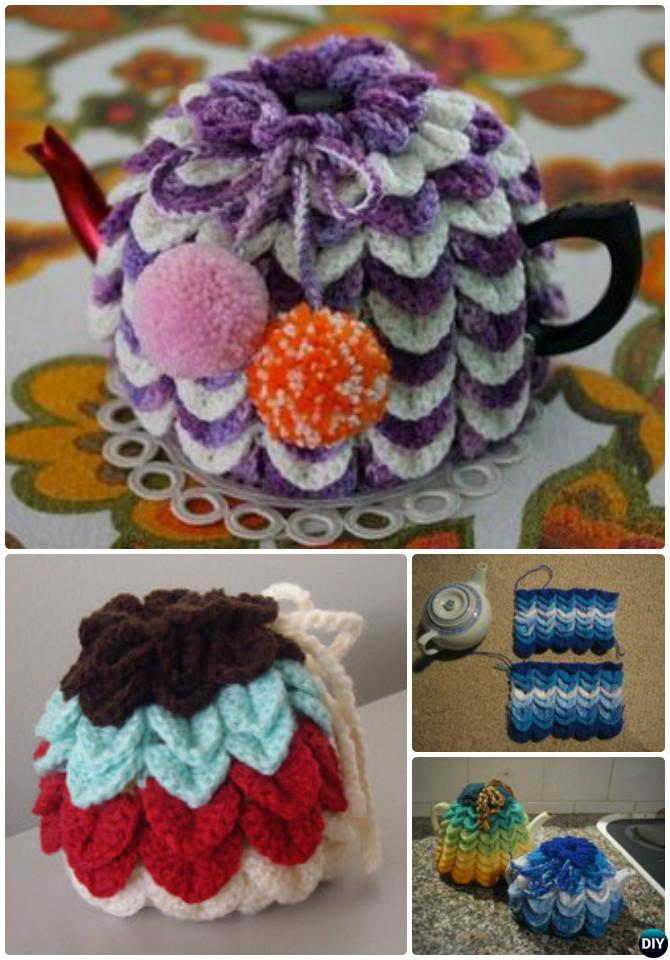 Crochet Scallop Tea Cozy Free Pattern-20 Crochet Knit Tea Cozy Free Patterns