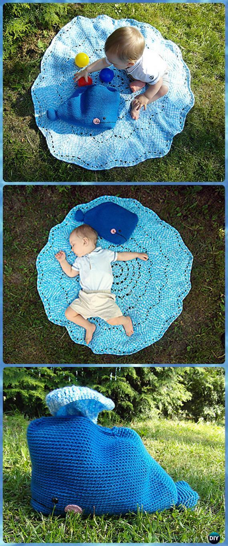 Crochet Willy the Whale Splish-Splash Blanket Free Pattern - Crochet Crochet Summer Blanket Free Patterns