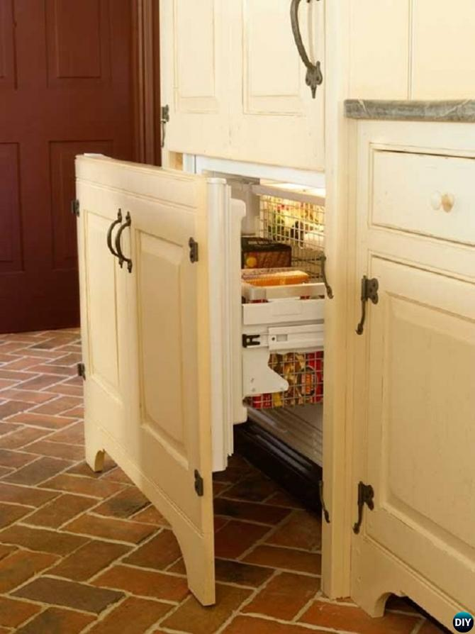DIY Cupboard Integrated Fridge-16 Brilliant Kitchen Storage Solutions You Can Make Yourself
